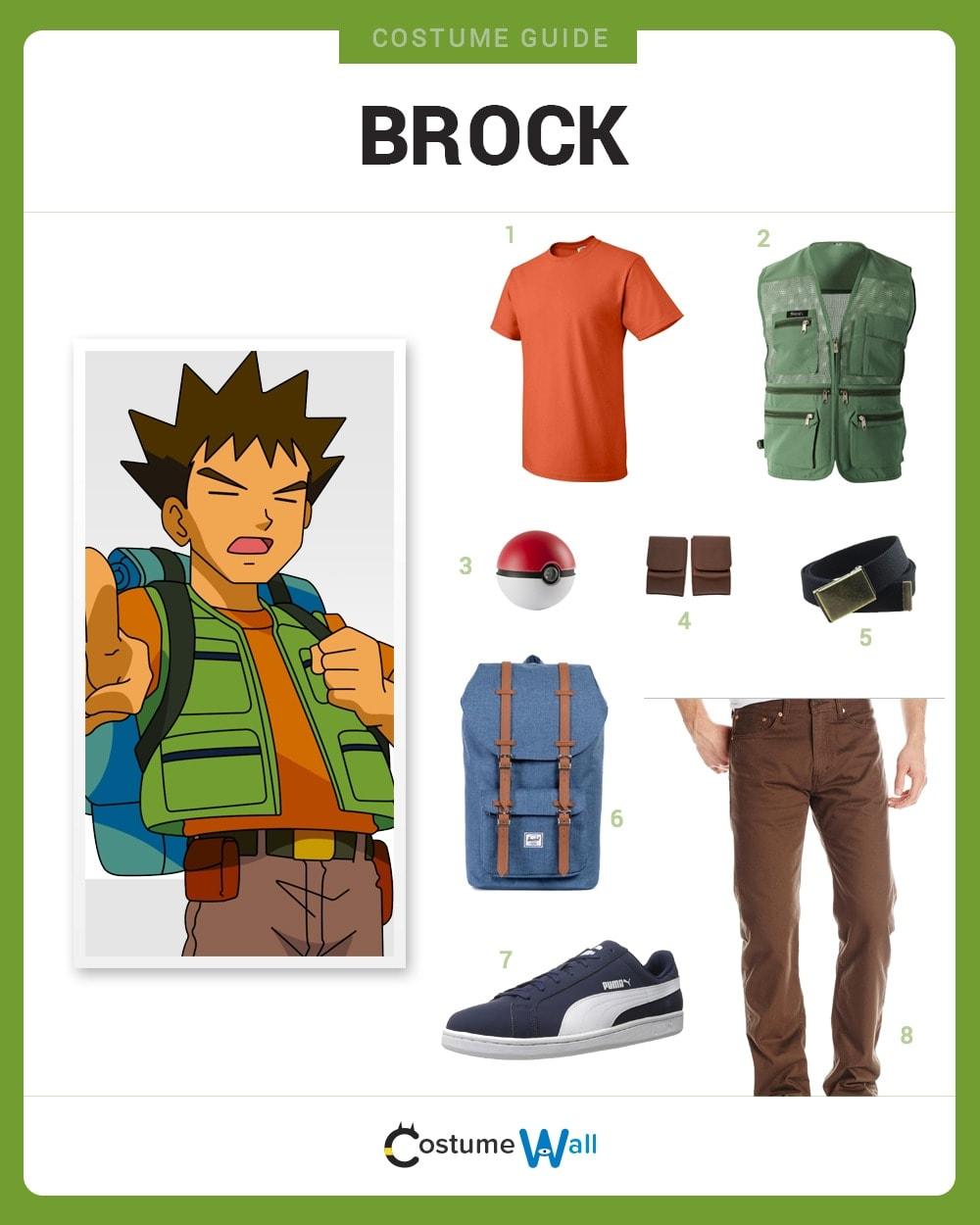 dress like brock costume diy outfit costume wall
