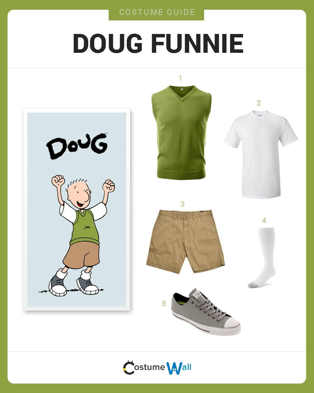 Dress Like Doug Funnie Costume DIY Outfit | Costume Wall Quailman Doug Funnie