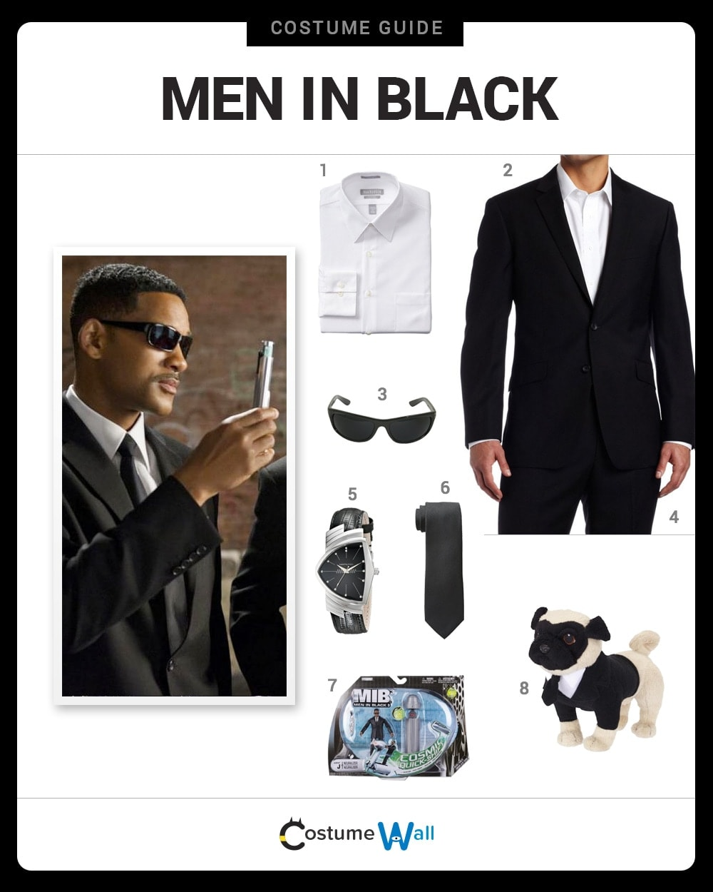 Dress Like Men In Black Costume DIY Outfit | Costume Wall