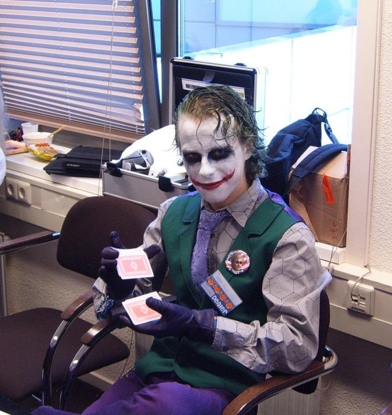 Dress Like The Joker Costume Diy Outfit Costume Wall
