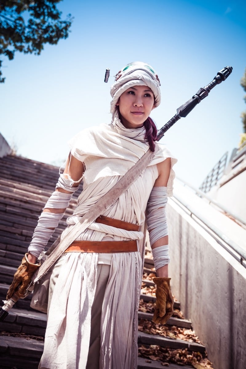 Dress Like Rey Costume Diy Outfit Costume Wall