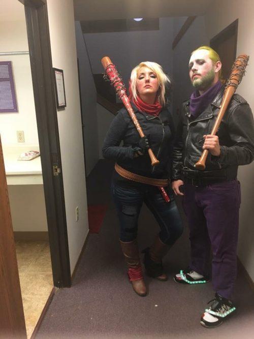 Harley Quinn and Joker Crossover Negan