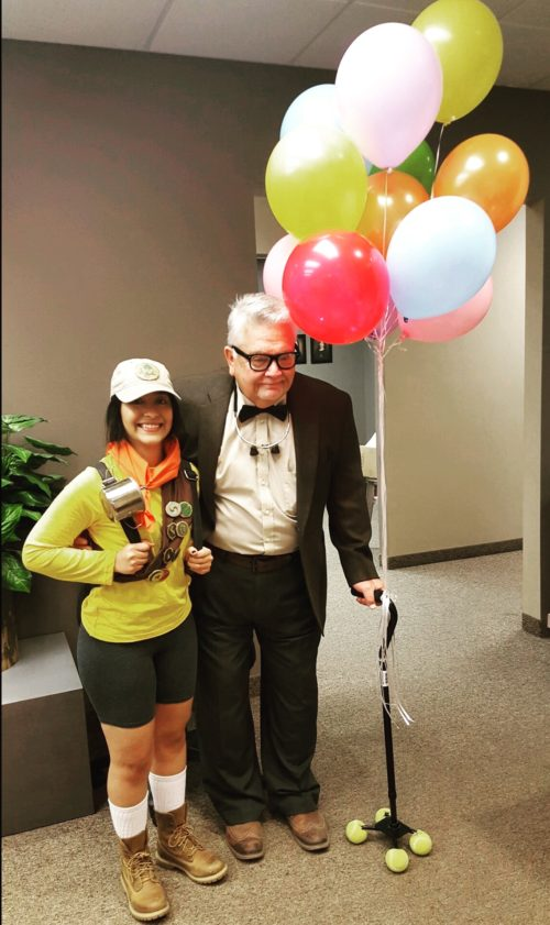 """Russell and Carl Fredricksen from """"Up"""""""