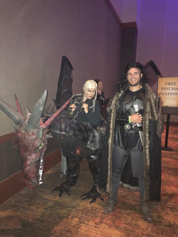 Game of Thrones – Daenerys, Drogon, and Jon Snow