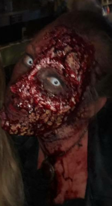 Half Torn Rotting Face Zombie