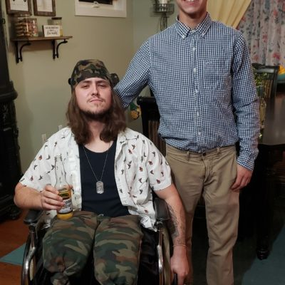 Forrest Gump and Lieutenant Dan