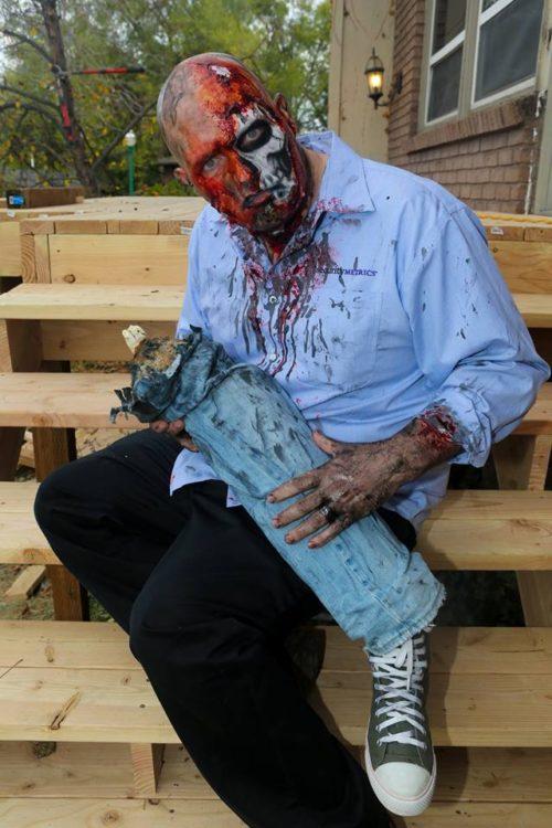 Real Leg Chomping Zombie