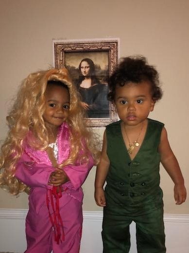 Baby Beyonce and Jay-Z