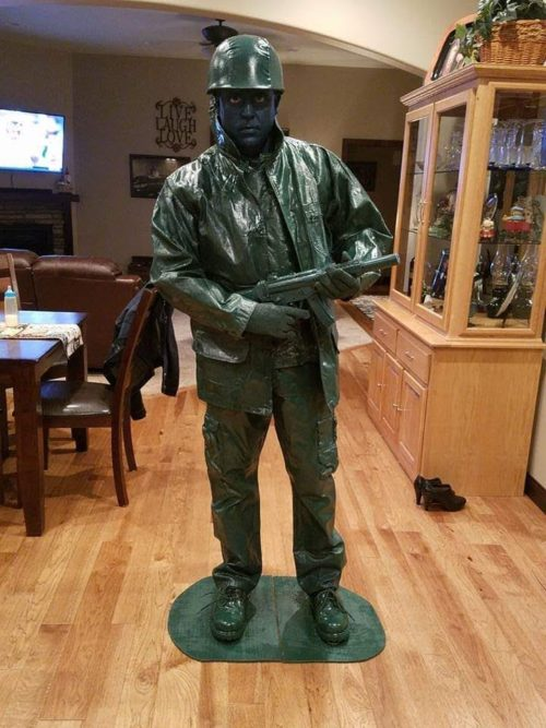 Toy Army Man Living Statue