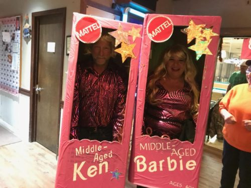 Middle aged Ken and Barbie