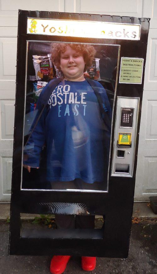 Kid Stuck in a Vending Machine