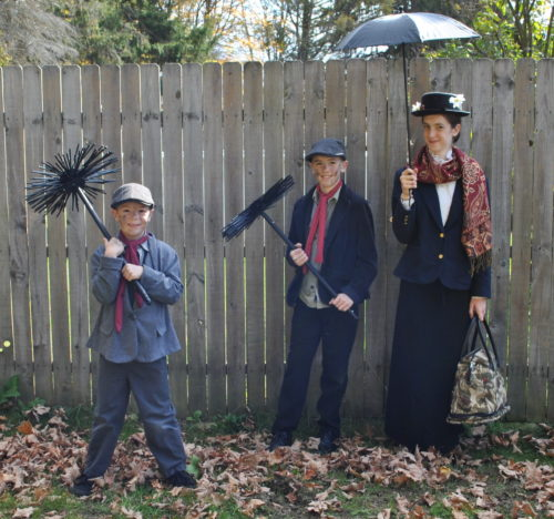 Mary Poppins and Her Chimney Sweeps