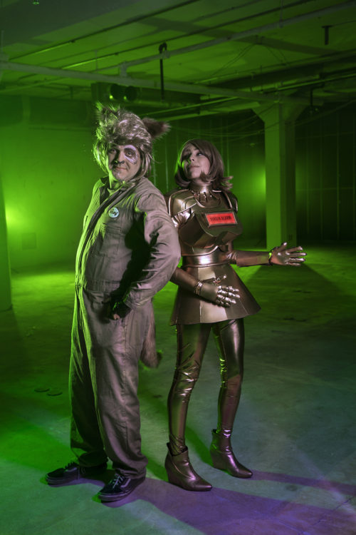 Dot and Barf from Spaceballs